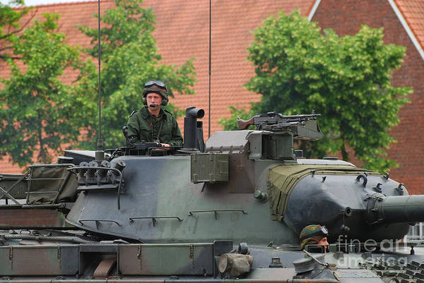Photograph - The Turret Of The Leopard 1a5 Main by Luc De Jaeger
