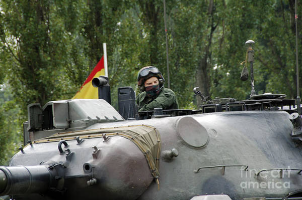 Photograph - The Turret Of The Leopard 1a5 Mbt by Luc De Jaeger
