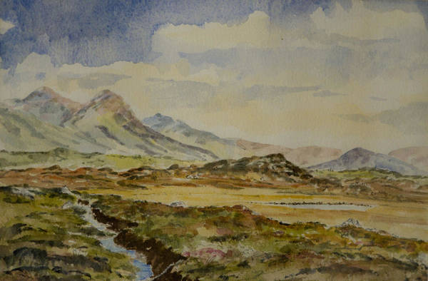 Painting - The Twelve Bens by Rob Hemphill