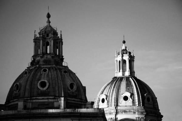 Photograph - The Twin Domes Of S. Maria Di Loreto And Ss. Nome Di Maria by Fabrizio Troiani