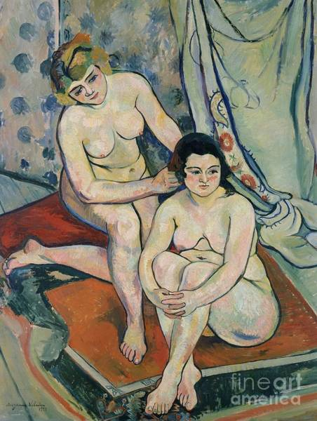 1923 Painting - The Two Bathers by Marie Clementine Valadon