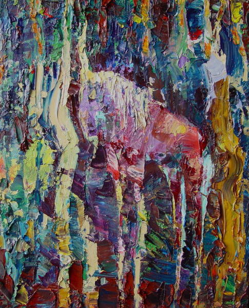 Avi Painting - The Unicorn by Avi Gorzhaltsan
