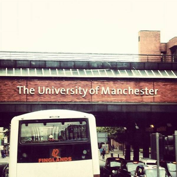 Bus Photograph - The University Of Manchester #studying by Abdelrahman Alawwad
