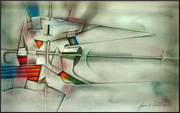 Drawing - The Unseen - Cross 1989 by Glenn Bautista