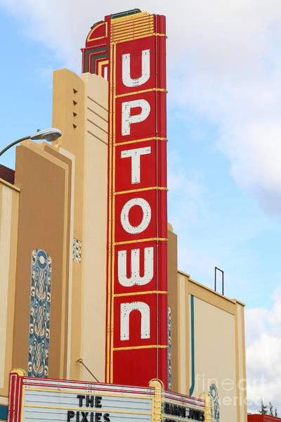 Photograph - The Uptown Theater In Napa California Wine Country . 7d8982 by Wingsdomain Art and Photography