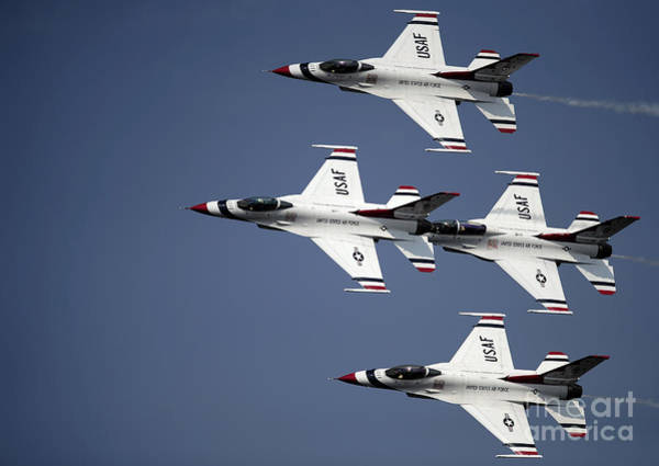 Photograph - The U.s. Air Force Thunderbird by Stocktrek Images