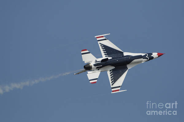 Photograph - The U.s. Air Force Thunderbirds Perform by Stocktrek Images