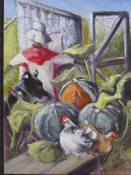 Painting - The Veggie Patch by Kathy  Karas