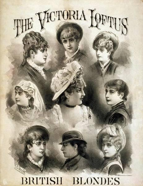 Loftus Photograph - The Victoria Loftus British Blondes by Everett