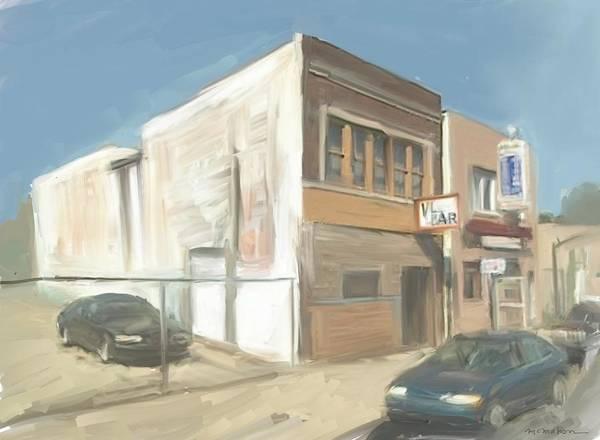 Dive Bar Digital Art - The Vl Bar Detroit by RG McMahon