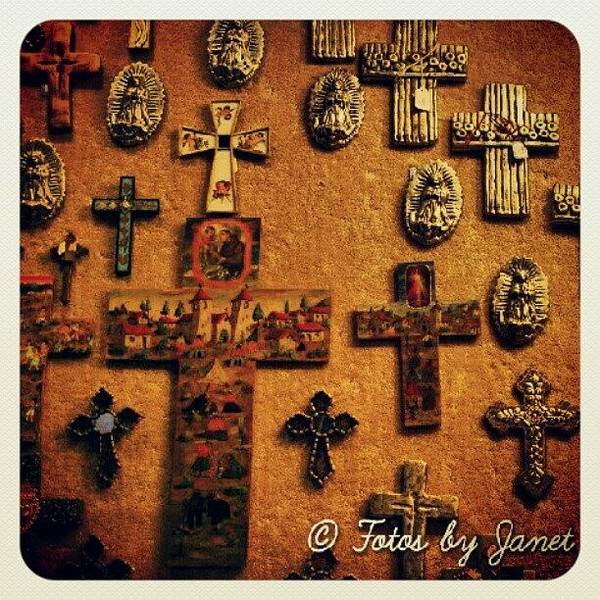 Pencil Wall Art - Photograph - The Wall #cross #wall #art #artist by Janet Ortiz