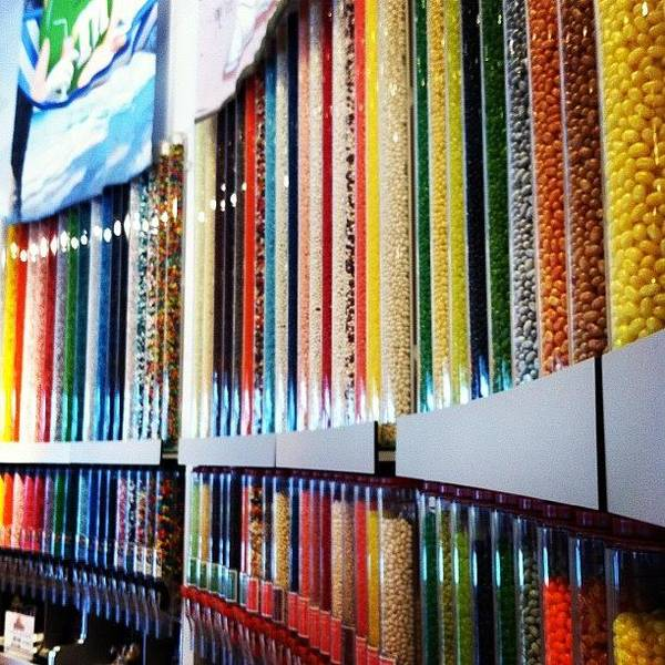 Bright Wall Art - Photograph - The Wall Of Candy by Lea Ward