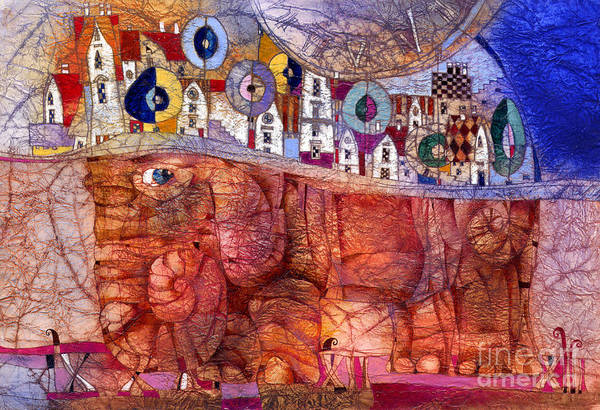 Wall Art - Mixed Media - The Wandering Elephant by Svetlana and Sabir Gadghievs