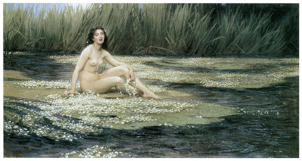 Herbert Draper Painting - The Water Nixie by Herbert Draper