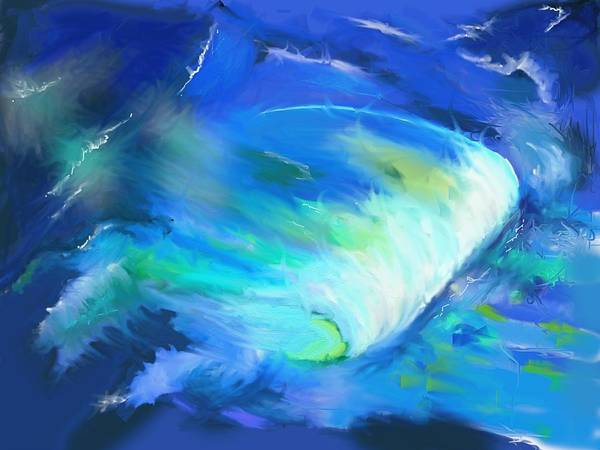 Painting - The Wave by Eugene Foltuz
