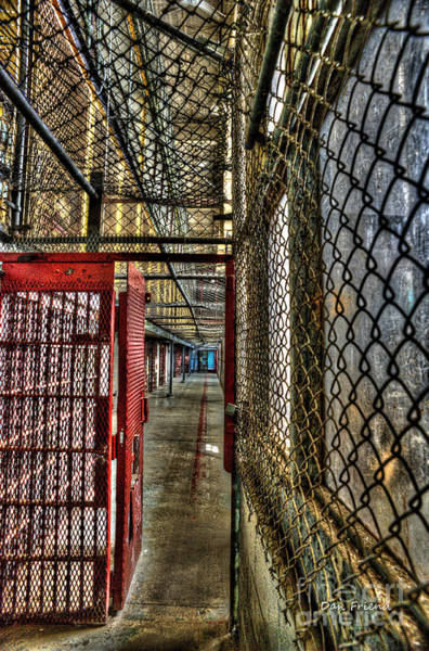 Photograph - The West Virginia State Penitentiary Cell Hallway by Dan Friend
