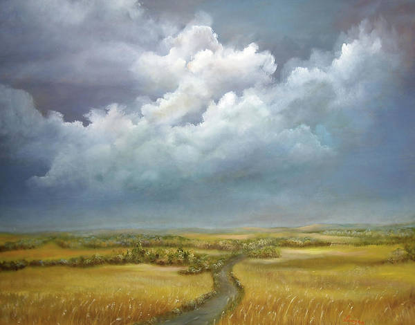 Painting - The Wheat Field by Katalin Luczay
