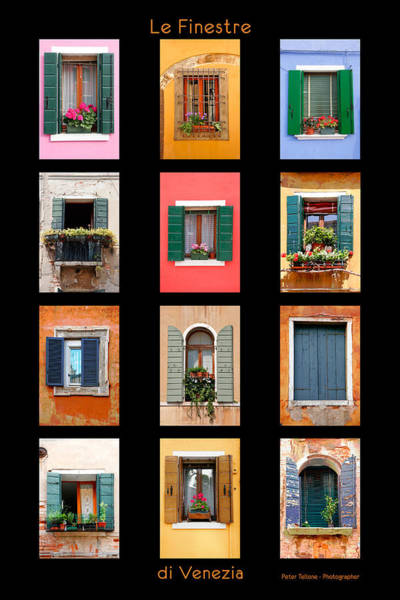 Photograph - The Windows Of Venice by Peter Tellone