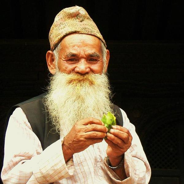 Wall Art - Photograph - The Wise Old Man From Bhaktapur by Studio Yuki