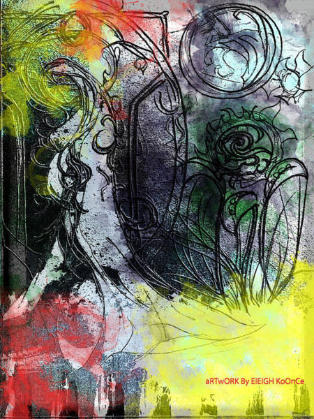 Pregnancy Mixed Media - The Woman In The Gown by Eleigh Koonce