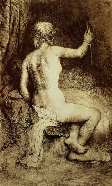 Arrow Drawing - The Woman With The Arrow by Rembrandt Harmensz van Rijn