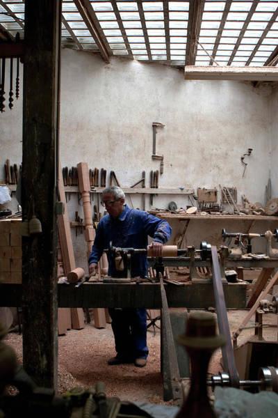 Photograph - The Woodworker Studio by Lorraine Devon Wilke