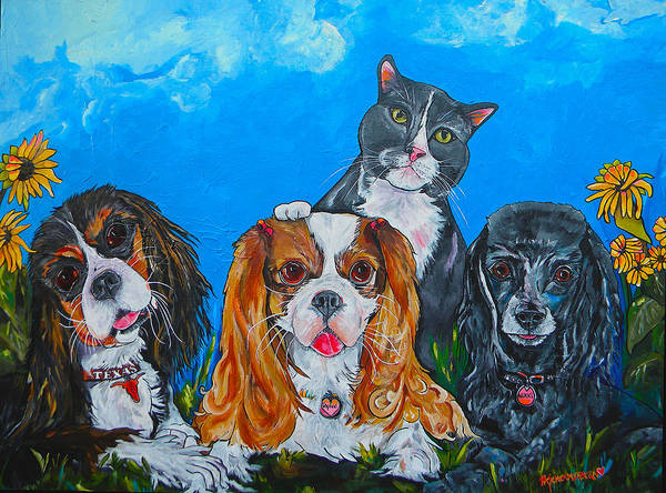 Painting - The Woof Gang by Patti Schermerhorn