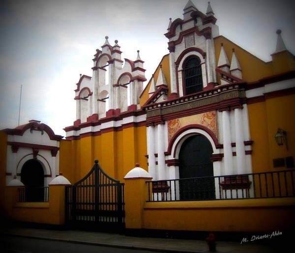 La Libertad Photograph - The Yellow Church by Mily Iriarte