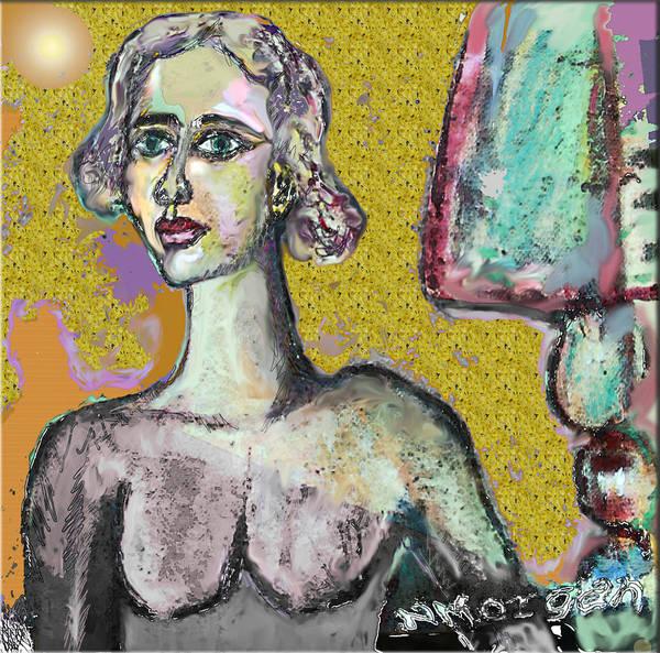 Wallpaper Mixed Media - The Yellow Wallpaper 2 by Noredin Morgan