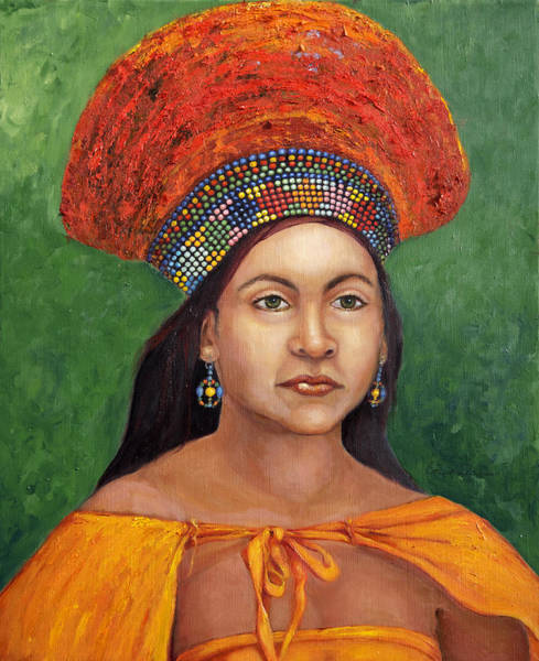 Wall Art - Painting - The Zulu Bride by Portraits By NC