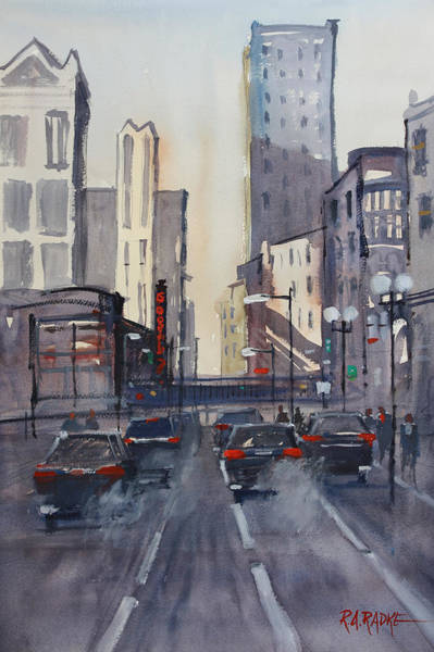 Wall Art - Painting - Theatre District - Chicago by Ryan Radke