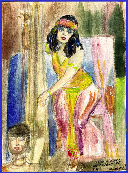 Flappers Drawing - Theda Bara 3 by Mel Thompson