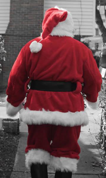 Jolly Holiday Photograph - There Goes My Santa by Teresa Mucha
