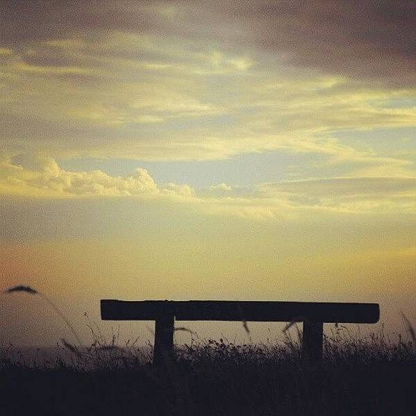Norfolk Photograph - There Is A #bench On A #clifftop In by Alexandra Cook
