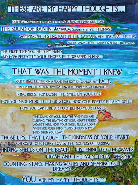 Painting - These Are My Happy Thoughts by Patti Schermerhorn