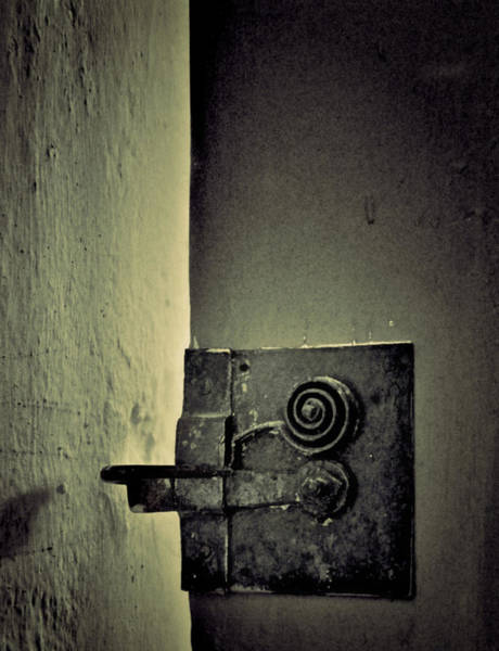 Latch Wall Art - Photograph - Think Before You Enter by Odd Jeppesen