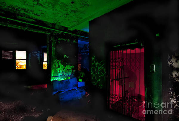 Stamford Photograph - This Elevator Only Goes Down by Keith Kapple