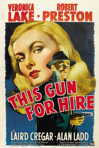 Veronica Photograph - This Gun For Hire, Veronica Lake, Alan by Everett