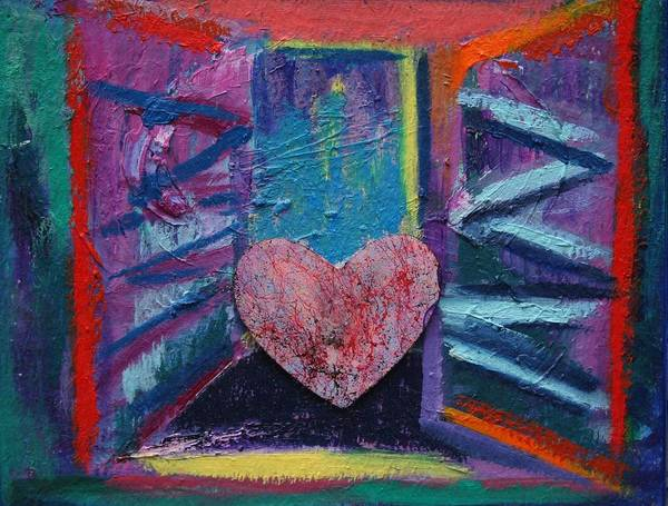 Painting - This Heart Wants Out by Karin Eisermann