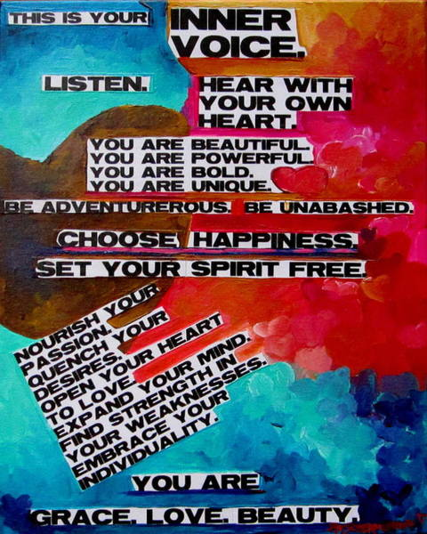 Painting - This Is Your Inner Voice by Patti Schermerhorn