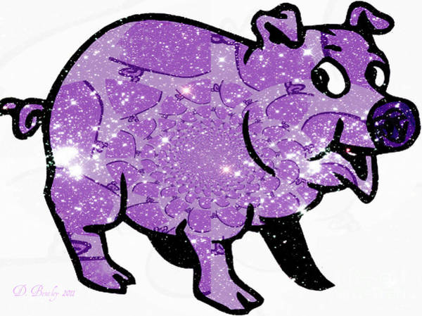 Digital Art - This Little Piggy by Donna Bentley
