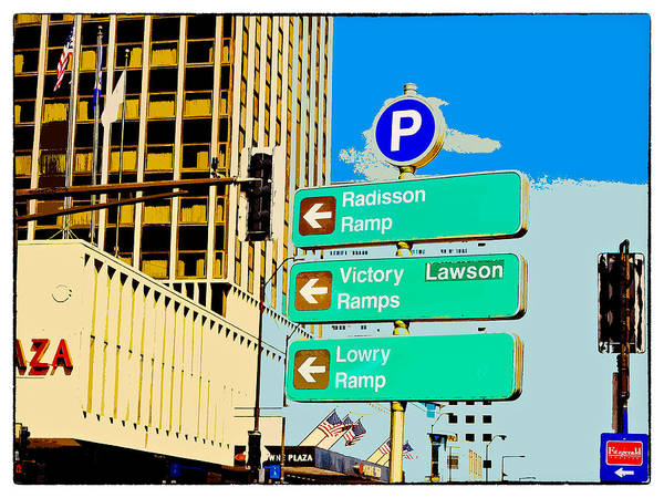 Cutout Digital Art - This Way To St. Paul by Susan Stone