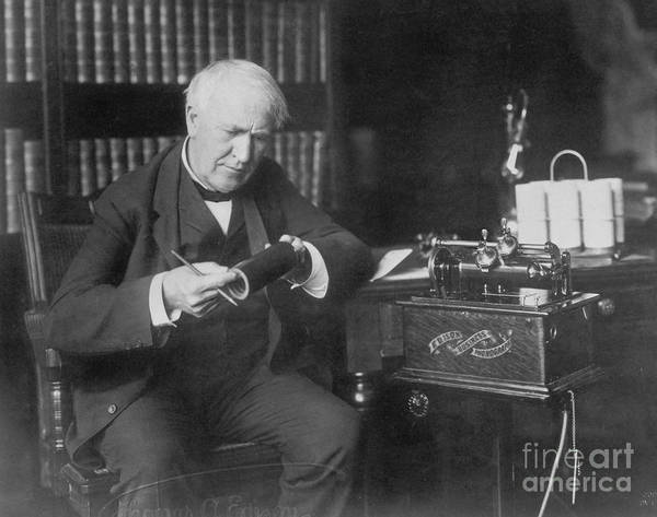 Photograph - Thomas Edison, American Inventor by Omikron