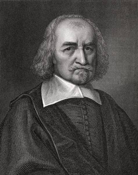 Wall Art - Photograph - Thomas Hobbes, English Philosopher by Middle Temple Library