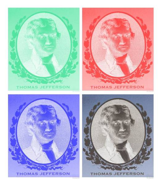 Photograph - Thomas Jefferson In Negative Colors by Rob Hans