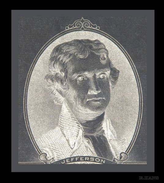 Photograph - Thomas Jefferson In Negative  by Rob Hans