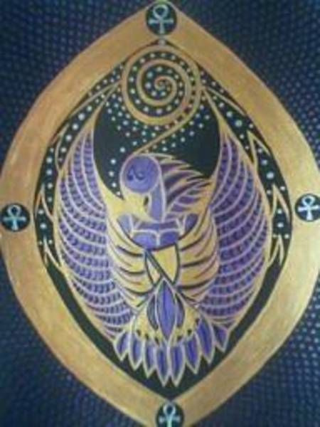 Birdman Painting - Thoth The Birdman by Michelle Collier