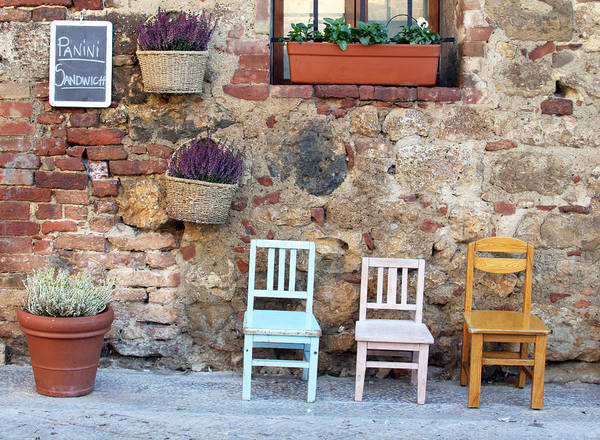 Wall Art - Photograph - Three Little Chairs by Eleanor Marriott