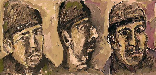 Wall Art - Painting - Three Me by Noredin Morgan