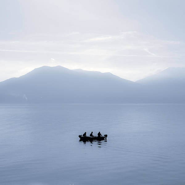 Motor Boat Photograph - Three Men In A Boat by Joana Kruse